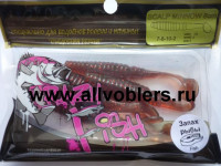 "Съедобная резина CRAZY FISH Scalp Minnow 3"" длина 8 см 5 шт в уп. MOTOR OIL 10"