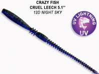 "CRAZY FISH Cruel Leech 5.1"" 13 см 10 шт в уп. NIGHT SKY 12D"