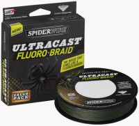 Плетеная леска Spiderwire Ultracast FLUOROBRAID 110м 0.10мм 6.119кг желтая 1258770