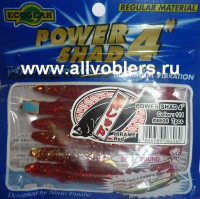 "Cиликоновые приманки ECOGEAR POWER SHAD длина 4"" 100 мм 7 шт в уп. 111 4905789086060"