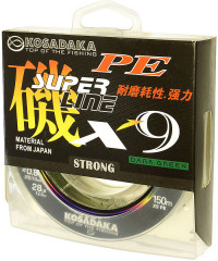 "Kosadaka ""SUPER LINE PE X9"" 150м, цв. light green, 0,12мм, 10,9кг"