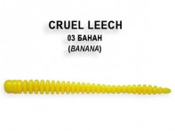 "Съедобная резина CRAZY FISH Cruel Leech 2"" длина 5.5 см 8 шт в уп. BANANA 03"