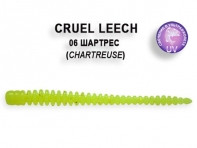 "Съедобная резина CRAZY FISH Cruel Leech 2"" длина 5.5 см 8 шт в уп. CHARTREUSE 06"