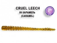 "Съедобная резина CRAZY FISH Cruel Leech 2"" длина 5.5 см 8 шт в уп. CARAMEL 09"