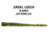 "Съедобная резина CRAZY FISH Cruel Leech 2"" длина 5.5 см 8 шт в уп. WATERMELON 16"