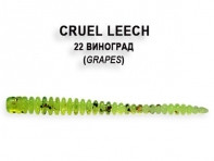 "Съедобная резина CRAZY FISH Cruel Leech 2"" длина 5.5 см 8 шт в уп. GRAPES 22"