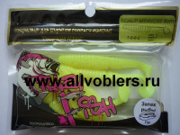 "Съедобная резина CRAZY FISH Scalp Minnow 4"" длина 10 см 4 шт в уп. CHARTREUSE 06"