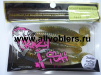 "Съедобная резина CRAZY FISH Scalp Minnow 4"" длина 10 см 4 шт в уп. OLIVE 01"