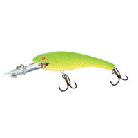 9134-279  Воблер MAGNUM WALLY DIVER 21 гр chartreuse / gold