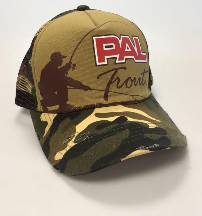 Бейсболка PAL Trout Cap PTC-1702 Brown Camo Beak / Brown Camo Mesh