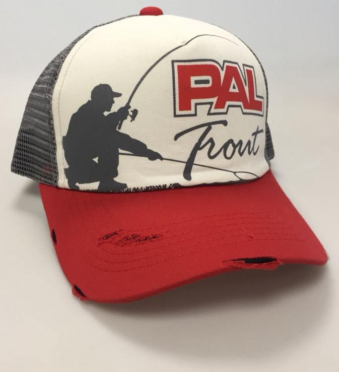 Бейсболка PAL Trout Cap PTC-1701 Red Beak / Gray Mesh
